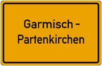 Ortsschild Garmisch-Partenkirchen