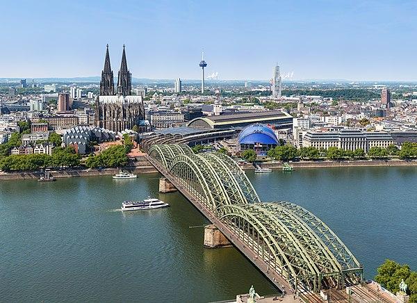 Blick über das Zentrum Kölns