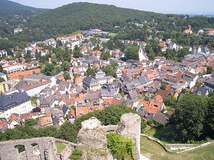 Blick von der Burgruine Königstein