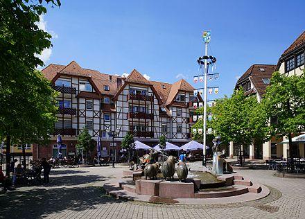 Der Georgi Marktplatz in Leimen-Mitte