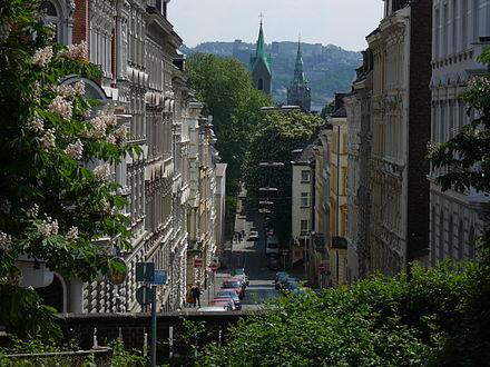 Enge Straßen in Wuppertal