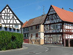 Fachwerkhäuser in Mörfelden