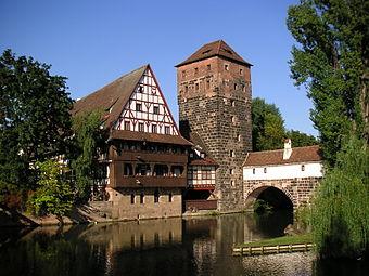 Nürnberg Weinstadel mit Henkersteg