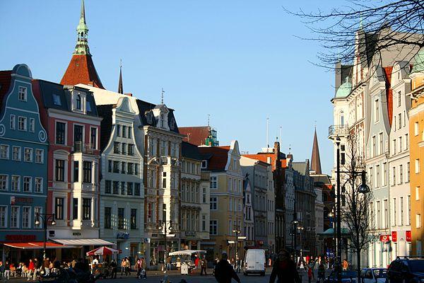 Kröpeliner Strae, Einkaufsstraße im Zentrum von Rostock
