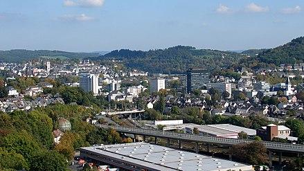 Siegen Panorama der Stadt 01