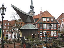 Holztretkran am Hansehafen