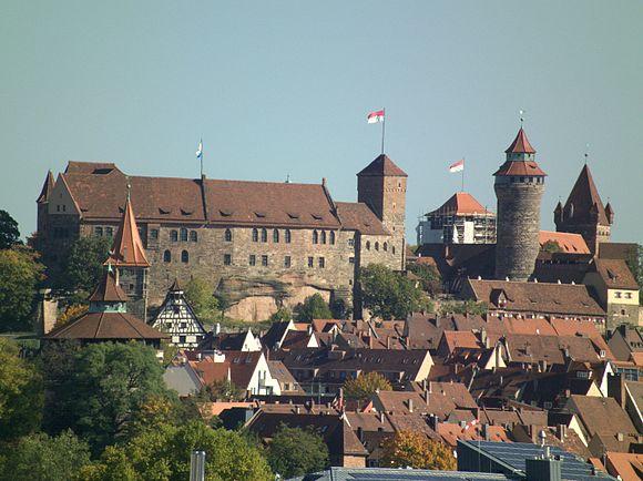 Wahrzeichen Nürnbergs, die Kaiserburg